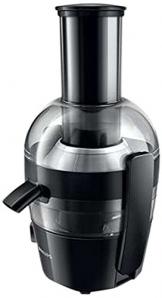 Philips HR1855/00 Entsafter (700 Watt, 2 Liter, 1 Min QuickClean, Saftbehälter) schwarz - 1