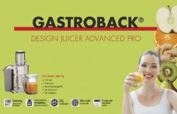 Gastroback 40133 Design Jucer Advanced Pro -