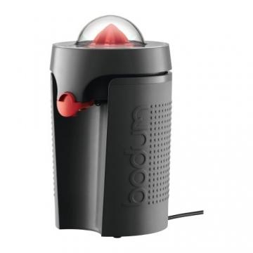 Bodum BISTRO Elektrische Saftpresse (Tropfschutzsperre, Spülmaschinengeeignetes Zubehör) schwarz -