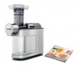 Philips HR1945/80 Slow Juicer, Entsafter für kaltes Pressen, maximale Nährstoffextraktion, weiß -