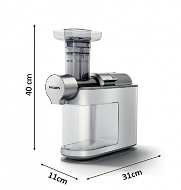 Philips HR1945/80 Slow Juicer weiß Maße Test