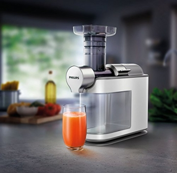 Entsafter Slow Juicer Test : Philips HR1945/80 Slow Juicer wei? im Test