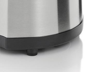 WMF STELIO Citruspresse, elektrisch, 2 Presskegel, Saftauslauf direkt ins Glas, cromargan matt/silber -