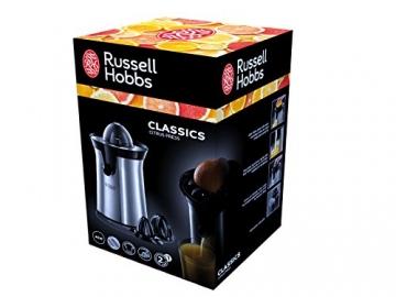 Russell Hobbs 22760-56 Classics Zitruspresse (60 Watt, Tropf-Stopp-Funktion) Edelstahl -